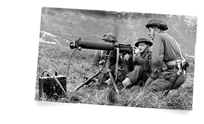 vickers machine gun training