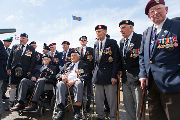 D-Day veterans Arromanches