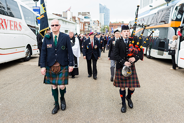 john millin leads d-day veteran parade
