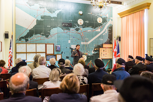 normandy veterans map room southwick park 2014