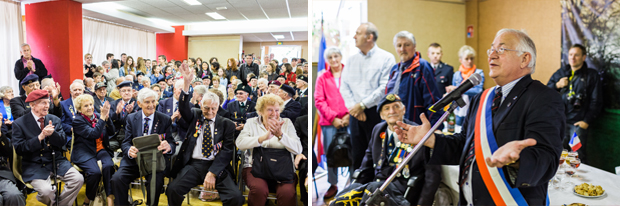 m chandelier addresses normandy veterans in thury-harcourt