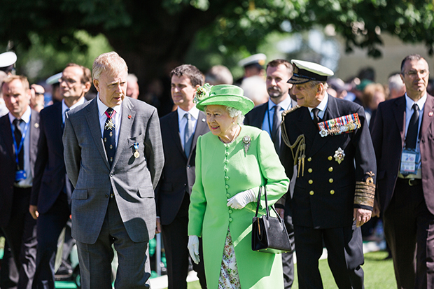 d-day 70th anniversary hrh the queen bayeux cemetery