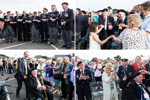 d-day veterans sing auld lang syne
