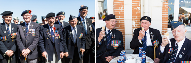 d-day veterans ice-cream arromanches 2014