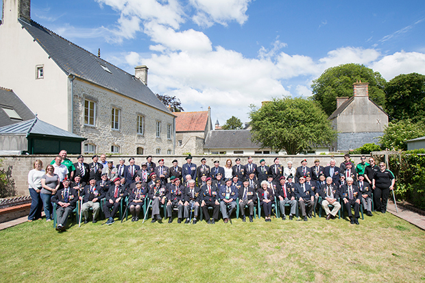 British veterans in Normandy