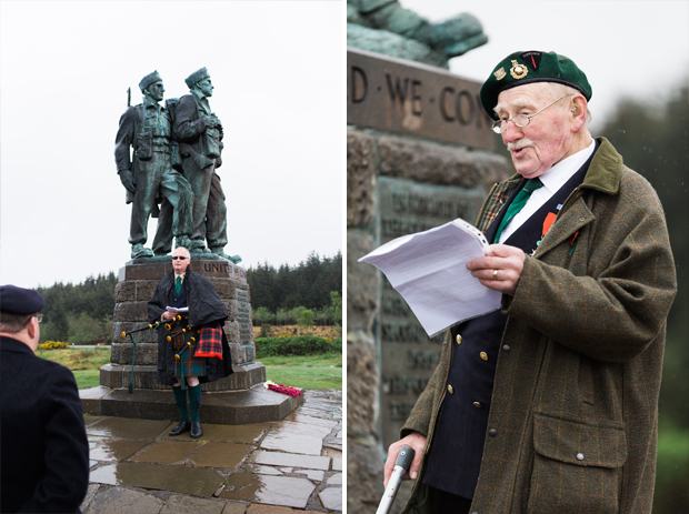 John Millin at Spean Bridge Memorial