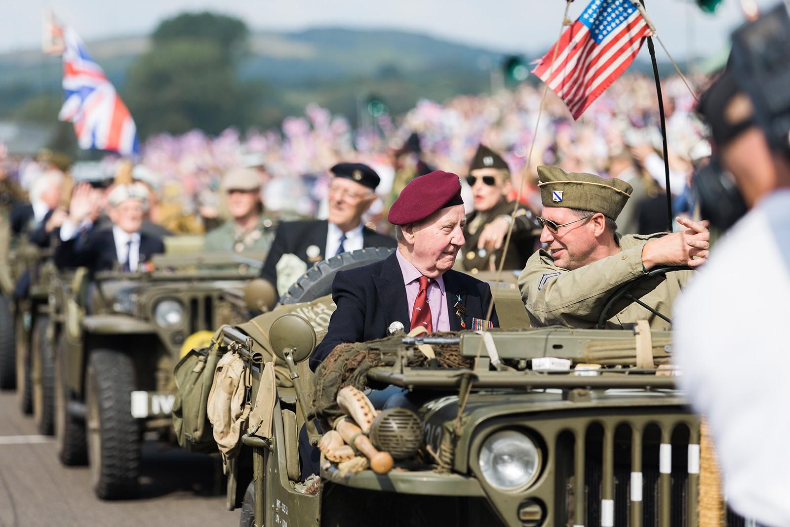 WW2 Veterans motorcade at Goodwood Revival