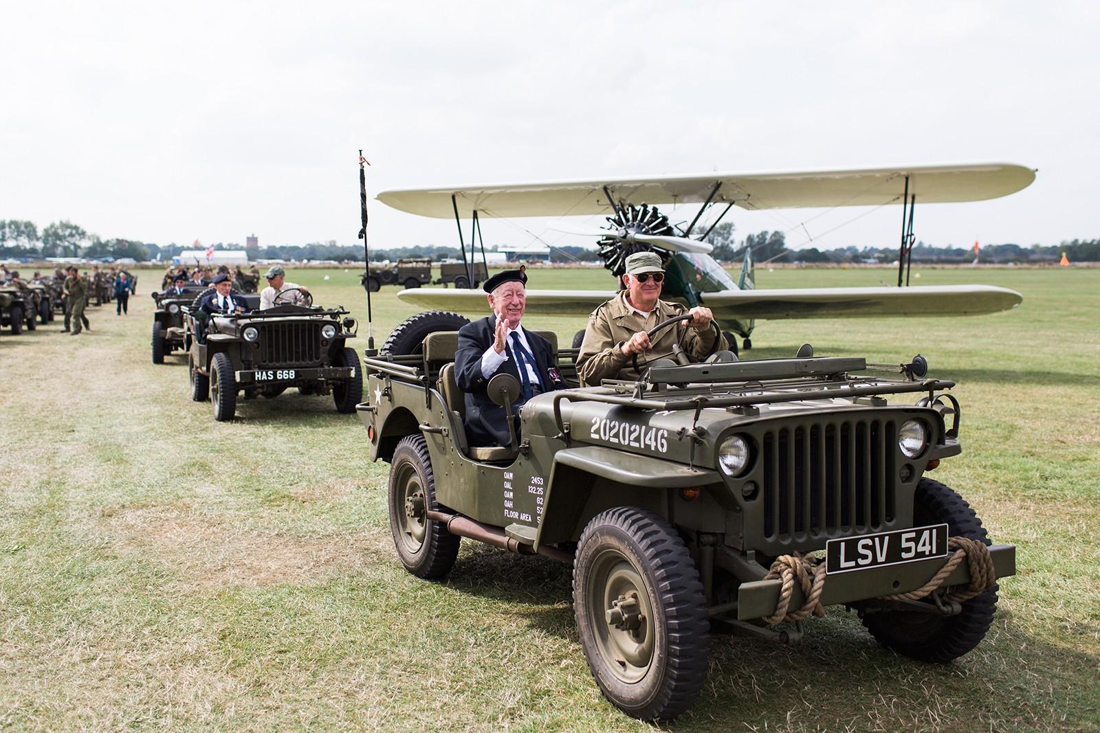 D-Day veterans motorcade Goodwood