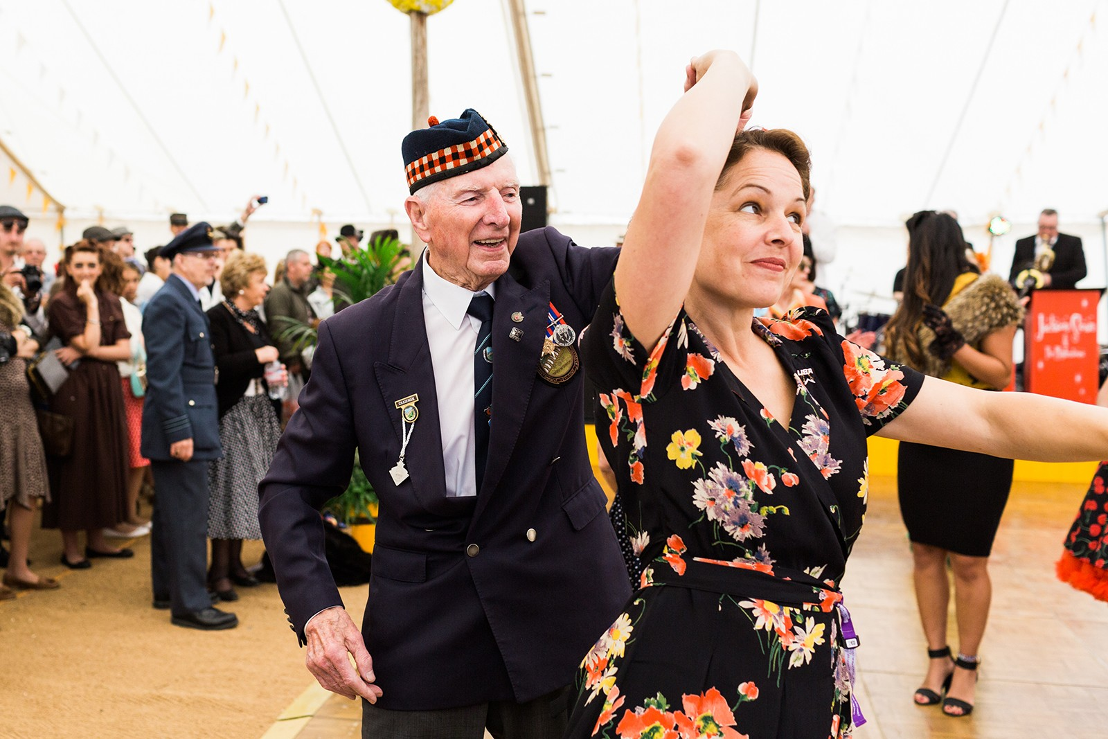 WW2 veteran jiving at Goodwood Revival