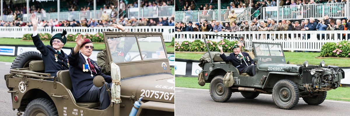 D-Day Veterans on Goodwood racetrack