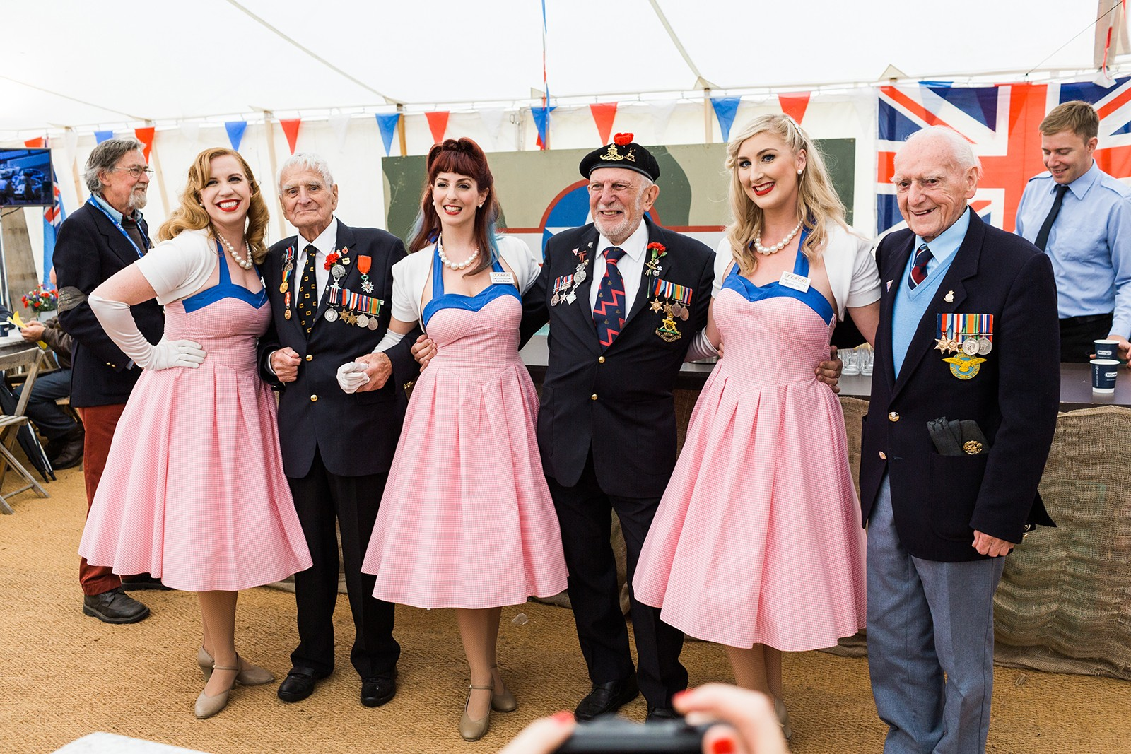 D-Day Veterans and Candy Girls at Goodwood Revival