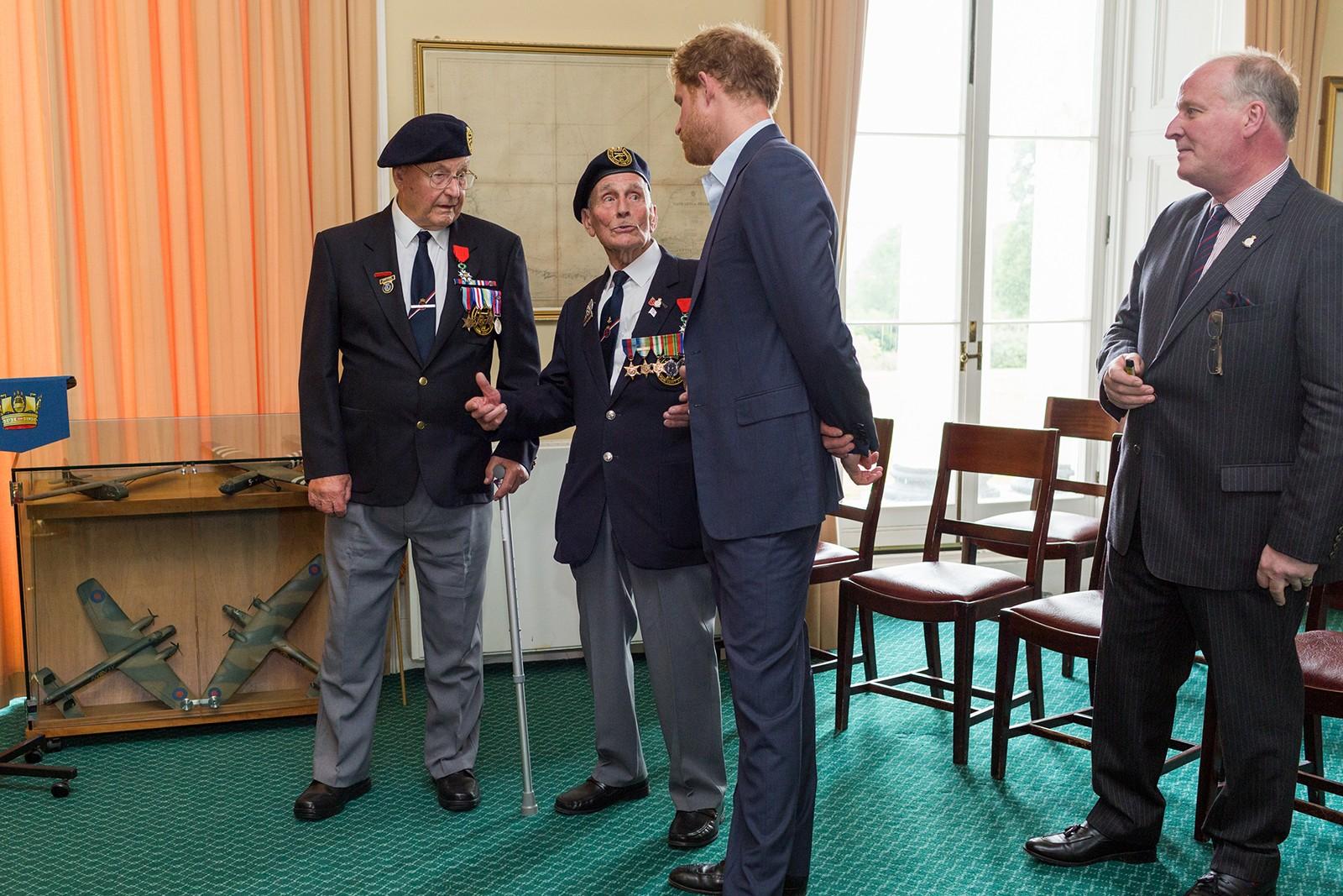 Royal Navy D-Day Veterans meet HRH Prince Harry