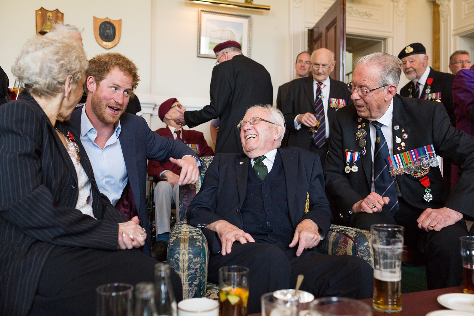 Prince Harry meets D-Day Veterans Southwick House