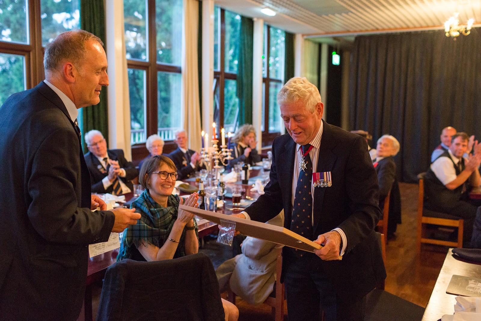 Rtd. Rear Admiral Neil Rankin meets D-Day Veterans