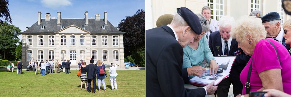D-Day veterans visit Chateau la Londe
