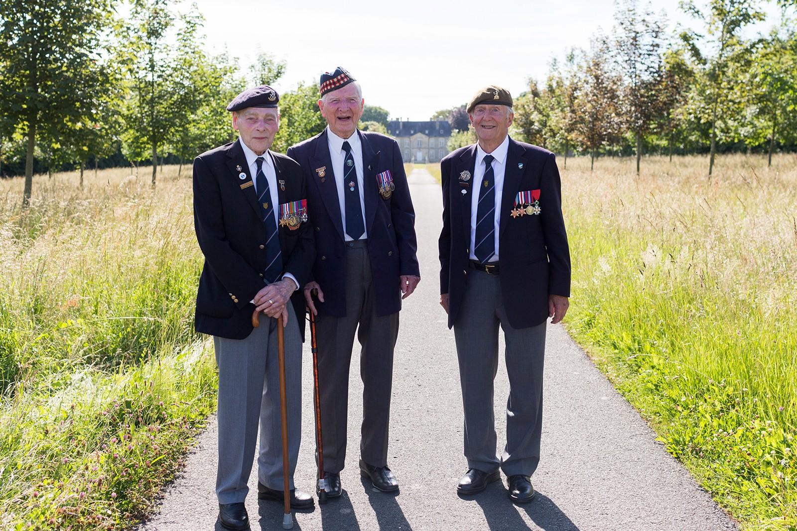 D-Day veterans Chateau de la Londe