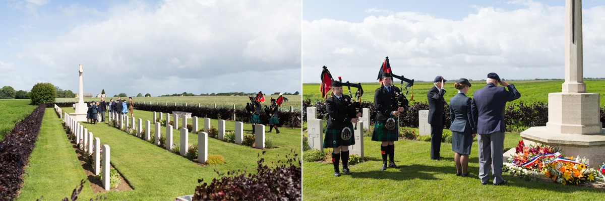 D-Day Veterans pay tribute at Secqueville Cemetery
