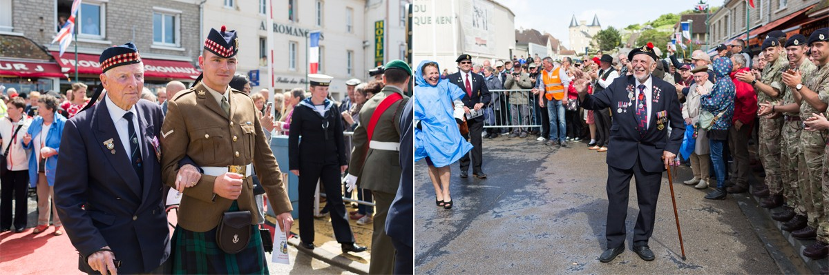 D-Day Veterans parade in Arromanches