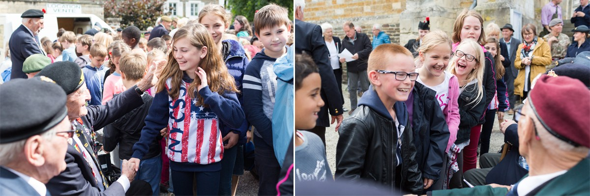 French schoolchildren meet D-Day Veterans