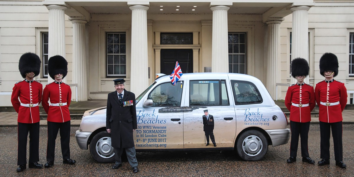 2018 – Taxi Charity supports Normandy Veterans at 'D-Day 75' Garden