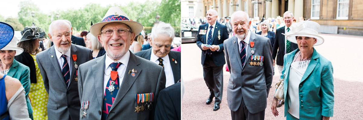 D-Day veterans at Buckingham Palace
