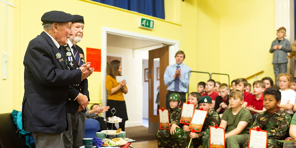 2018 – D-Day veterans invited to local Primary School's Remembrance play