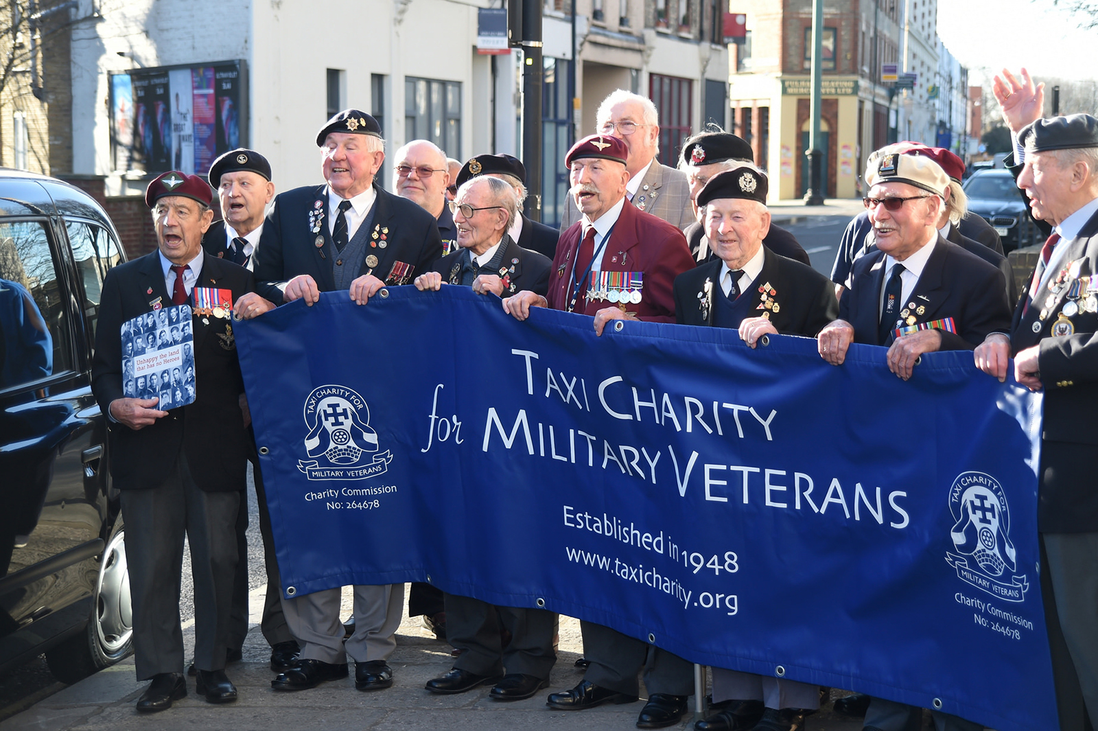 taxi charity military veterans 2018
